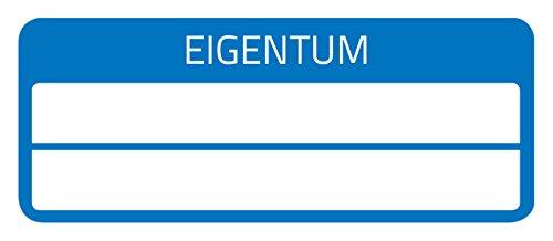 AVERY Zweckform 6924 Eigentums-Etiketten (50 Stück, Sicherheitsfolie, 50 x 20 mm) 10 Bogen blau