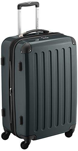 HAUPTSTADTKOFFER - Alex - Hartschalen-Koffer Koffer Trolley Rollkoffer Reisekoffer Erweiterbar,  4 Rollen, 65 cm, 74 Liter, Waldgrün